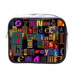 Letters A Abc Alphabet Literacy Mini Toiletries Bags