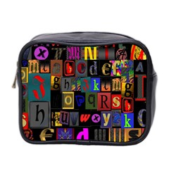 Letters A Abc Alphabet Literacy Mini Toiletries Bag 2 Side