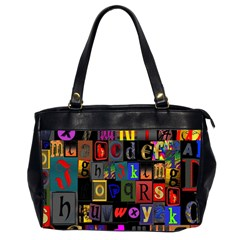 Letters A Abc Alphabet Literacy Office Handbags (2 Sides)
