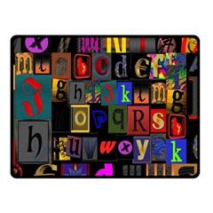 Letters A Abc Alphabet Literacy Fleece Blanket (Small)