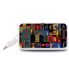 Letters A Abc Alphabet Literacy Portable Speaker (white)