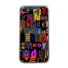 Letters A Abc Alphabet Literacy Apple iPhone 4 Case (Clear)