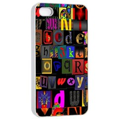 Letters A Abc Alphabet Literacy Apple iPhone 4/4s Seamless Case (White)