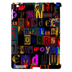 Letters A Abc Alphabet Literacy Apple iPad 3/4 Hardshell Case (Compatible with Smart Cover)