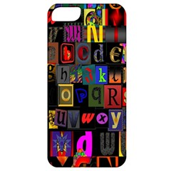 Letters A Abc Alphabet Literacy Apple Iphone 5 Classic Hardshell Case