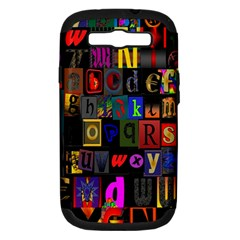 Letters A Abc Alphabet Literacy Samsung Galaxy S Iii Hardshell Case (pc+silicone)