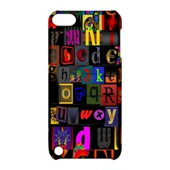 Letters A Abc Alphabet Literacy Apple iPod Touch 5 Hardshell Case with Stand