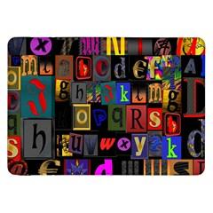 Letters A Abc Alphabet Literacy Samsung Galaxy Tab 8 9  P7300 Flip Case