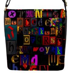 Letters A Abc Alphabet Literacy Flap Messenger Bag (s)