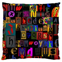 Letters A Abc Alphabet Literacy Standard Flano Cushion Case (one Side)
