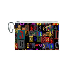 Letters A Abc Alphabet Literacy Canvas Cosmetic Bag (s)