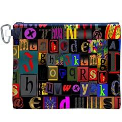 Letters A Abc Alphabet Literacy Canvas Cosmetic Bag (xxxl)