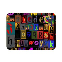 Letters A Abc Alphabet Literacy Double Sided Flano Blanket (Mini)