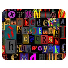Letters A Abc Alphabet Literacy Double Sided Flano Blanket (medium)