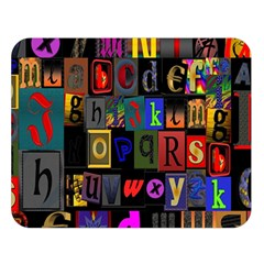 Letters A Abc Alphabet Literacy Double Sided Flano Blanket (Large)