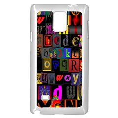 Letters A Abc Alphabet Literacy Samsung Galaxy Note 4 Case (white)