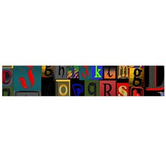 Letters A Abc Alphabet Literacy Flano Scarf (Large)