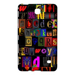 Letters A Abc Alphabet Literacy Samsung Galaxy Tab 4 (7 ) Hardshell Case