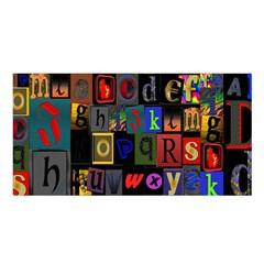 Letters A Abc Alphabet Literacy Satin Shawl