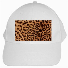 Leopard Print Animal Print Backdrop White Cap