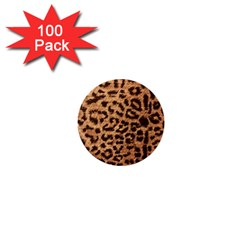Leopard Print Animal Print Backdrop 1  Mini Buttons (100 pack)
