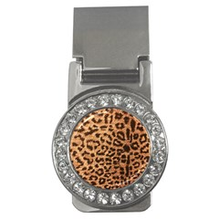 Leopard Print Animal Print Backdrop Money Clips (cz)