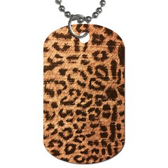 Leopard Print Animal Print Backdrop Dog Tag (One Side)