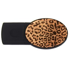 Leopard Print Animal Print Backdrop USB Flash Drive Oval (1 GB)