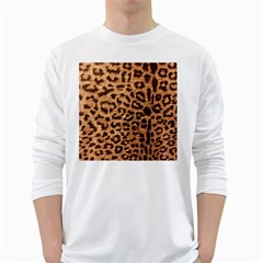 Leopard Print Animal Print Backdrop White Long Sleeve T-Shirts