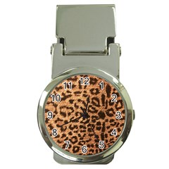 Leopard Print Animal Print Backdrop Money Clip Watches