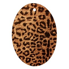 Leopard Print Animal Print Backdrop Oval Ornament (Two Sides)