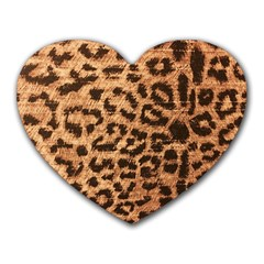 Leopard Print Animal Print Backdrop Heart Mousepads