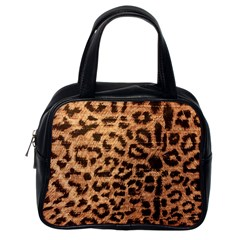 Leopard Print Animal Print Backdrop Classic Handbags (One Side)