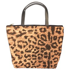Leopard Print Animal Print Backdrop Bucket Bags
