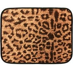 Leopard Print Animal Print Backdrop Fleece Blanket (mini)