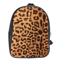Leopard Print Animal Print Backdrop School Bags(Large)