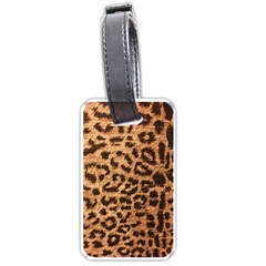 Leopard Print Animal Print Backdrop Luggage Tags (One Side)