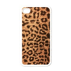 Leopard Print Animal Print Backdrop Apple iPhone 4 Case (White)