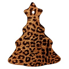 Leopard Print Animal Print Backdrop Ornament (Christmas Tree)