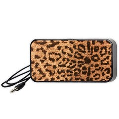 Leopard Print Animal Print Backdrop Portable Speaker (Black)