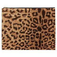Leopard Print Animal Print Backdrop Cosmetic Bag (xxxl)