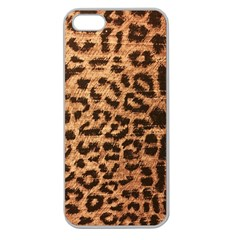 Leopard Print Animal Print Backdrop Apple Seamless Iphone 5 Case (clear)