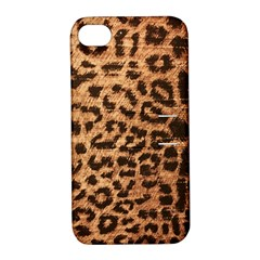 Leopard Print Animal Print Backdrop Apple Iphone 4/4s Hardshell Case With Stand