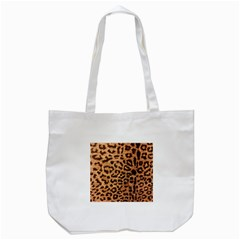 Leopard Print Animal Print Backdrop Tote Bag (White)