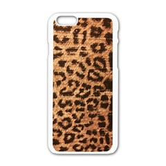 Leopard Print Animal Print Backdrop Apple Iphone 6/6s White Enamel Case