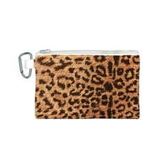Leopard Print Animal Print Backdrop Canvas Cosmetic Bag (S)