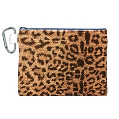 Leopard Print Animal Print Backdrop Canvas Cosmetic Bag (XL)