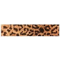 Leopard Print Animal Print Backdrop Flano Scarf (Small)