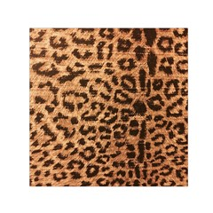 Leopard Print Animal Print Backdrop Small Satin Scarf (Square)
