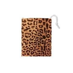 Leopard Print Animal Print Backdrop Drawstring Pouches (XS)